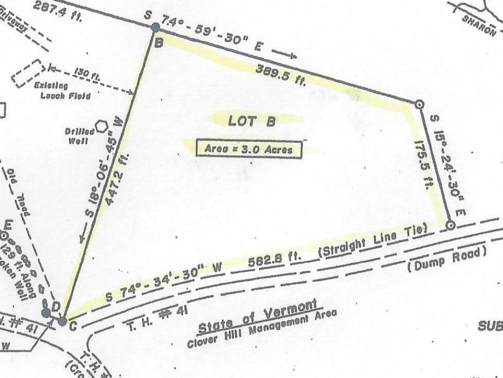 STRAFFORD VTLAND  for sale $$39,000   3 Acres    Price Per Acre $13,000