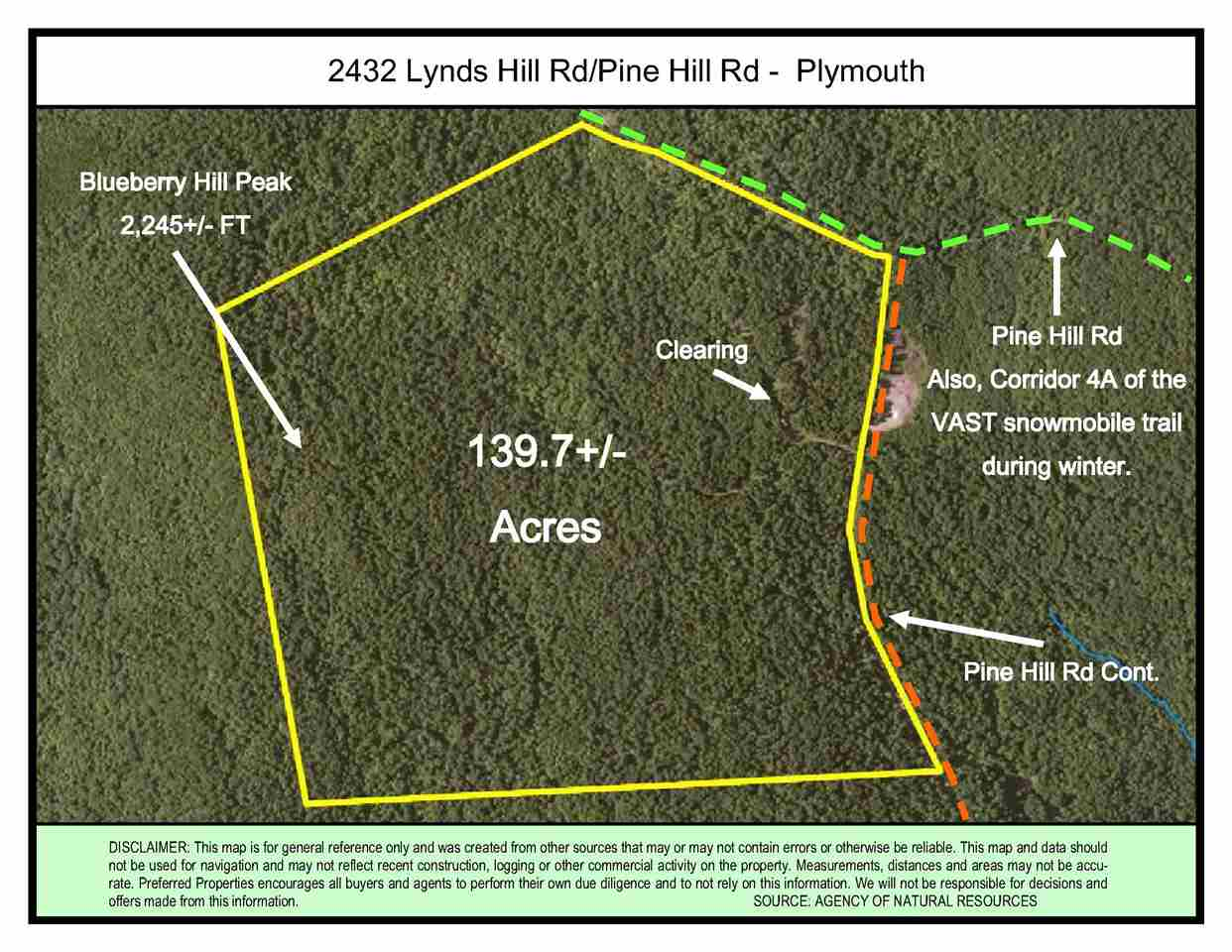2432 Lynds Hill Rd/Pine Hill Rd, Plymouth, VT 05056