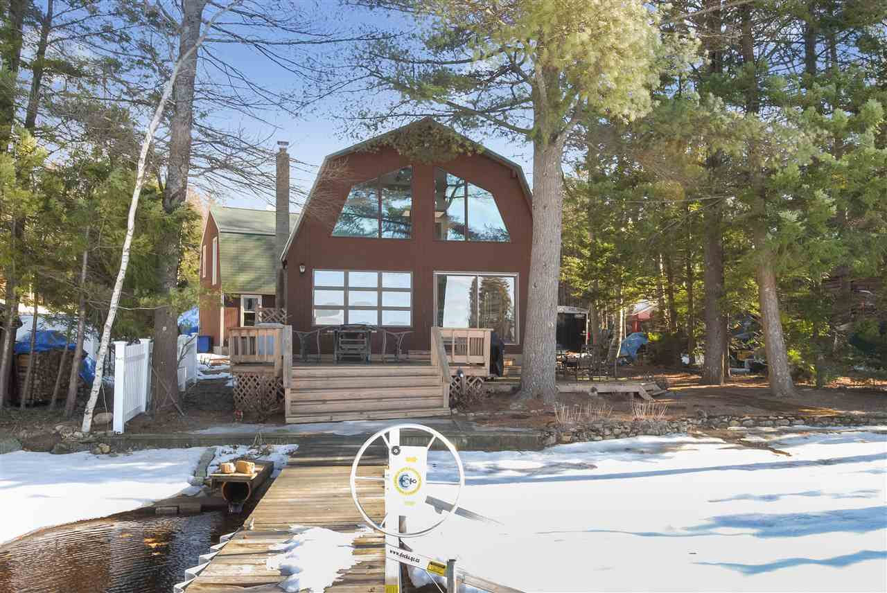 Belmont NH Home mls no. 4619329 with 45 ft. owned waterfront