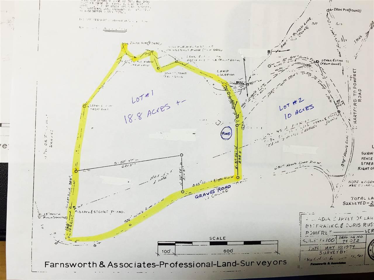 Pomfret VT Land for sale
