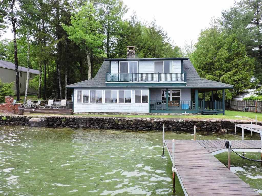 Meredith NH Home mls no. 4628983 with 110 ft. owned waterfront