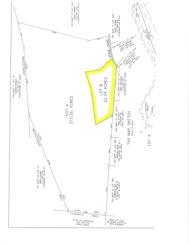 UNITY NH LAND  for sale $$49,900 | 22.5 Acres  | Price Per Acre $0