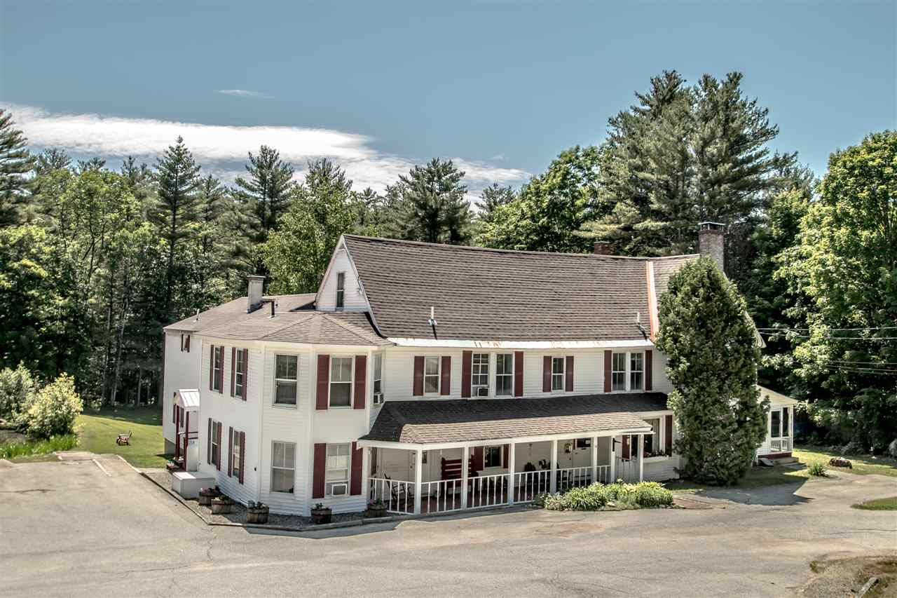Successful country Inn featuring 20 uniquely decorated guest rooms, including four suites, two of them with kitchenettes, all with private bath and individual A/C.  Gorgeous guest dining room overlooking the peaceful backyard and the pond, two spacious guest living rooms, one of them with a fireplace.  Large kitchen with commercial equipment. The owner's quarters consists of two bedrooms, living/dining room, kitchen, a large deck, and it offers privacy.  The 5.7 acre lot is absolutely beautiful, with about 600 feet of frontage on Abbott Brook and a nice pond on site.  The location is one of the best!  So close to the center of North Conway Village offering a variety of quaint shops, and very good restaurants, and in the heart of the Mount Washington Valley a natural playground for everyone!   Strong year around business!