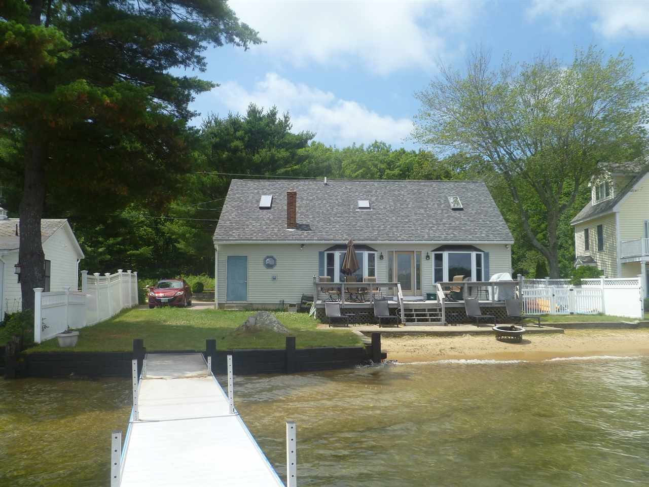Laconia NH Home mls no. 4647467 with 72 ft. owned waterfront