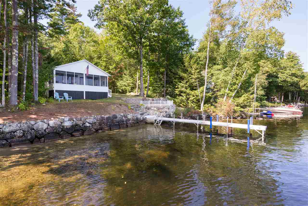 Moultonborough NH Home mls no. 4659170 with 108 ft. owned waterfront