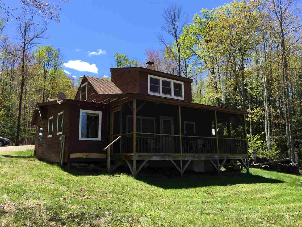Country Camp on 44 wooded acres in Grafton. Two...