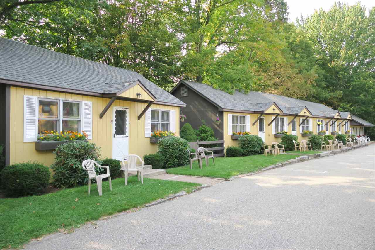 Excellent location for this 15 unit motel.  The guest rooms are divided between duplex unit, motel unit and a cozy cottage.  Additional there is a separate very spacious and private 3 bedrooms owner's quarter, with a nice living room and a spacious kitchen.  The property has been meticulously maintained with recent improvements such as new roof on the motel units, new hot water heaters in some of the units and new flat screen TVs.  The motel is just steps away from the heart of North Conway Village, within walking distance to shops and restaurants, and only a short ride to the year around amenities offered by the Mount Washington Valley such as skiing, snowmobiling, swimming, fly fishing, hiking, climbing and so much more.  A great business location.