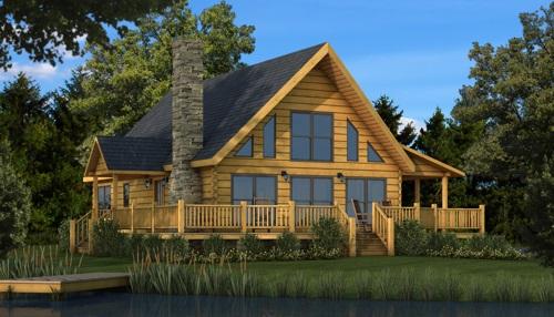 Rockbridge Model via Southland Log Homes in High...
