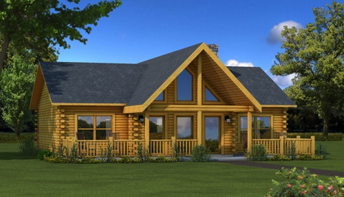 Wateree IV Model via Southland Log Homes in High...