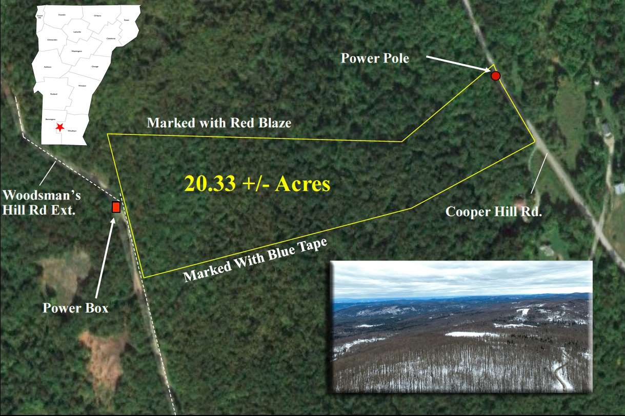 Beautiful private woodland parcel of 20.3+/-...