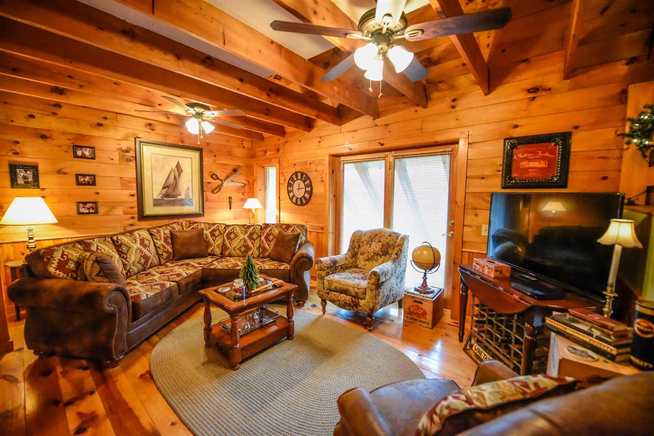 Natural woodwork abounds in this bright updated...