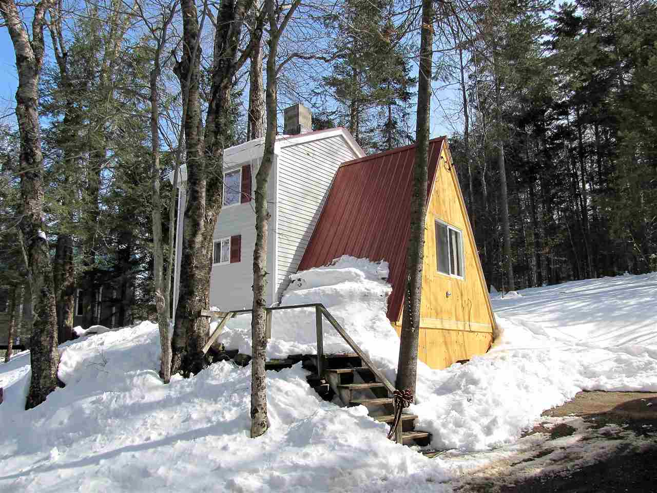 This sweet and cozy A-frame is close to Sitzmark,...