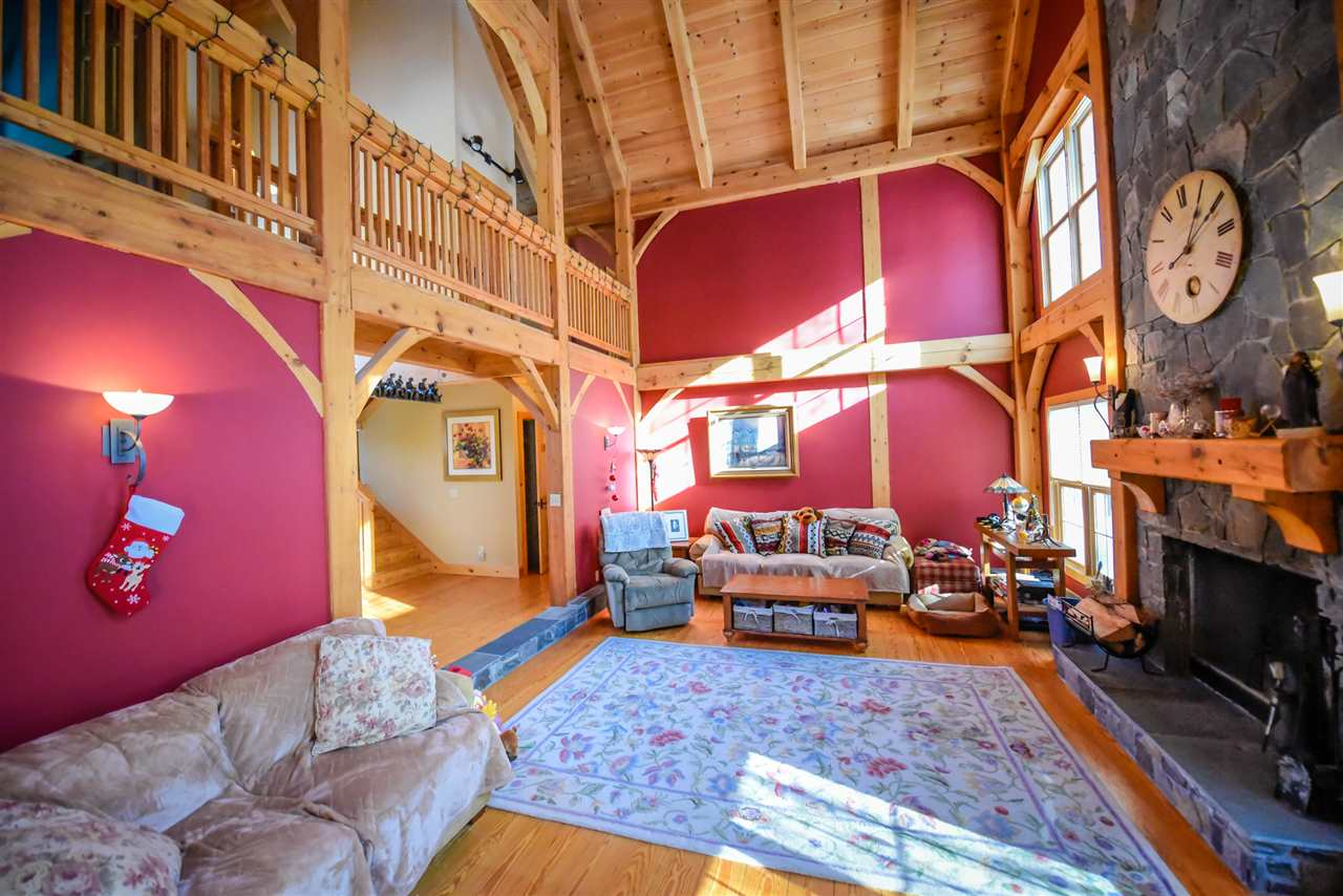 This spectacular Post & Beam home is located just...