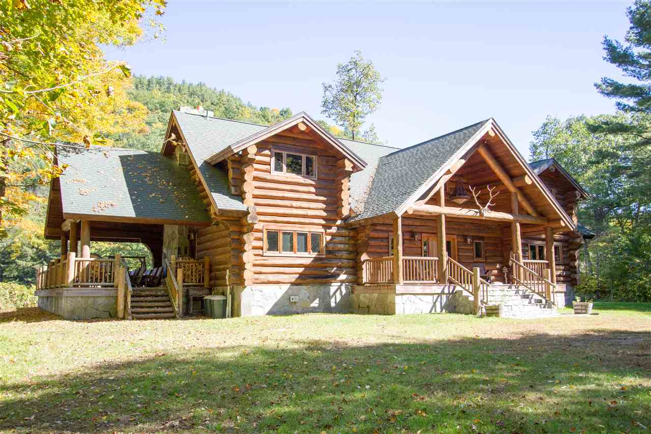 This custom built log home is a stunning example...