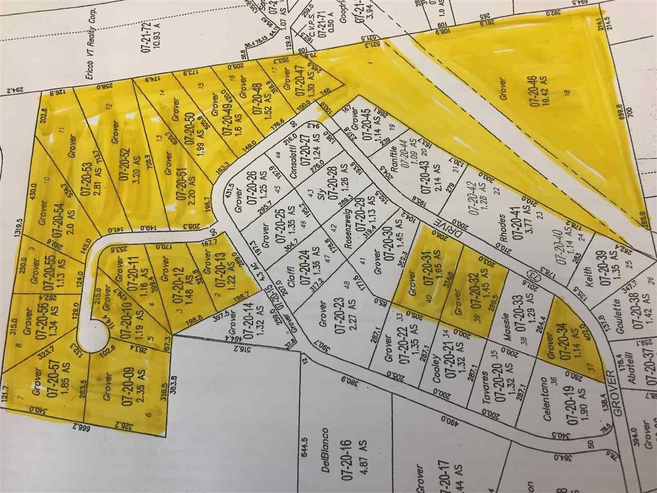 20 Rutland Town lots equaling 52+ acres is ready...