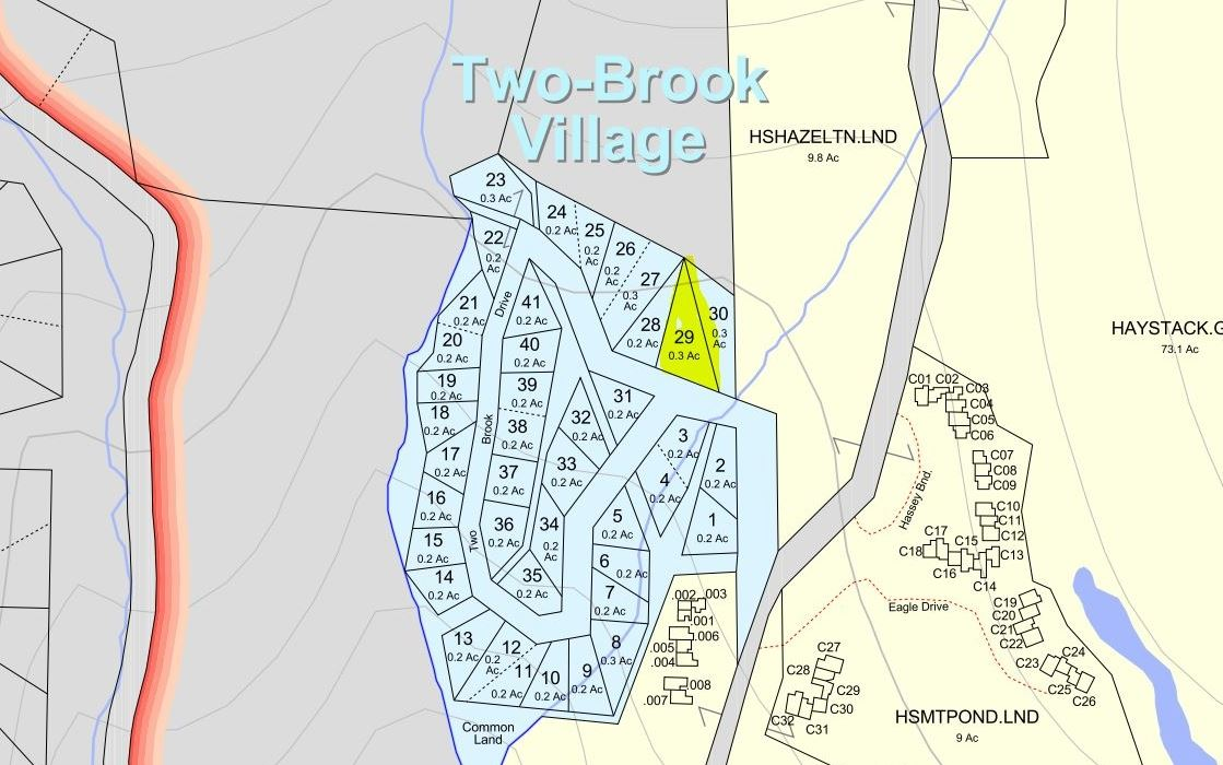 BUILD YOUR VACATION HOME HERE! TWO BROOK VILLAGE...
