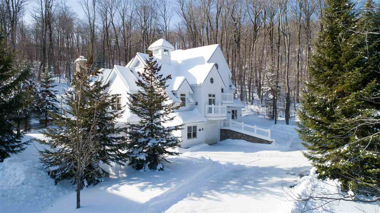 Privately situated with direct ski access on the...