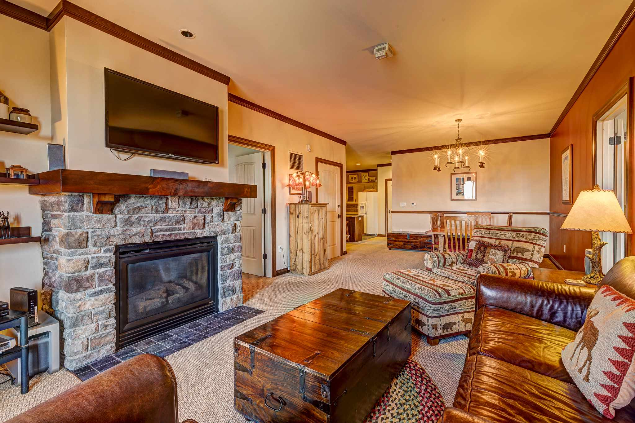 Three bedroom Rising Bear Lodge condo at...