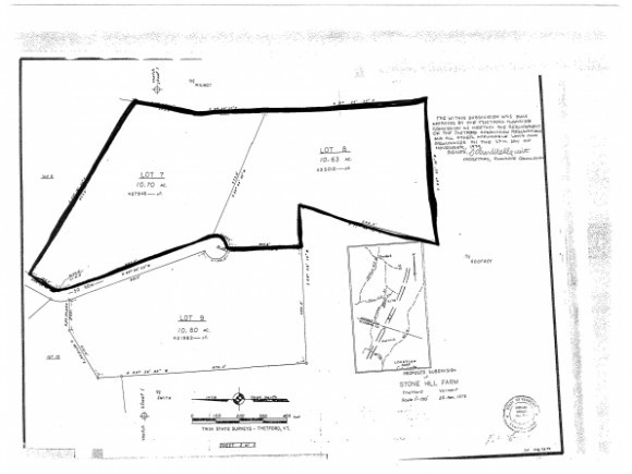 THETFORD VT LAND  for sale $$49,000 | 22.78 Acres  | Price Per Acre $2,853  | Total Lots 2