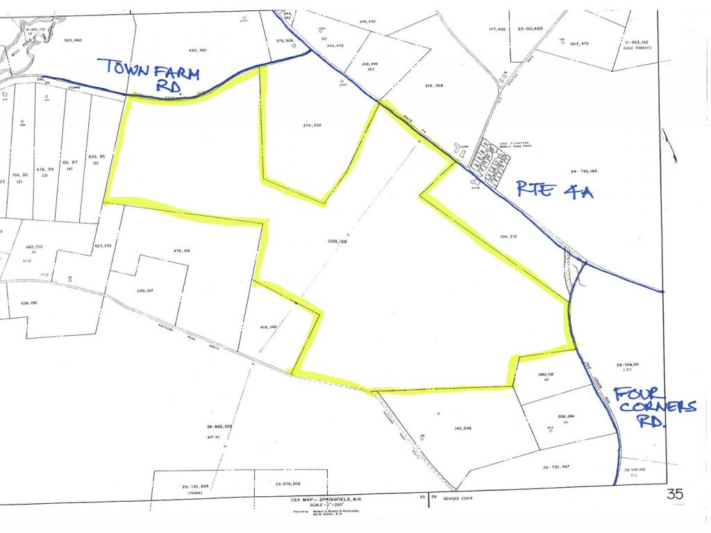 SPRINGFIELD NH LAND  for sale $$220,000 | 119 Acres  | Price Per Acre $1,848