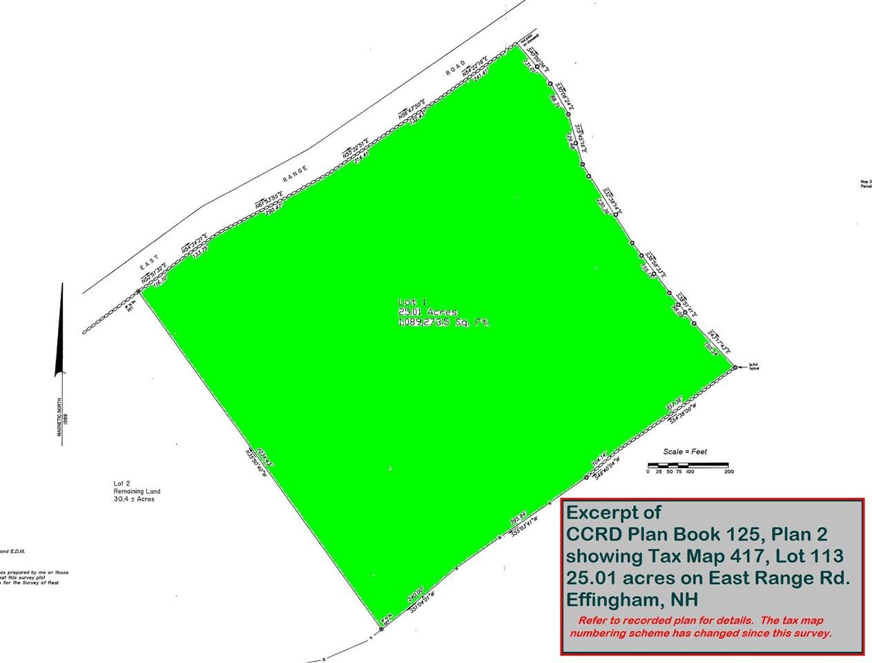 EFFINGHAM NH LAND  for sale $61,879