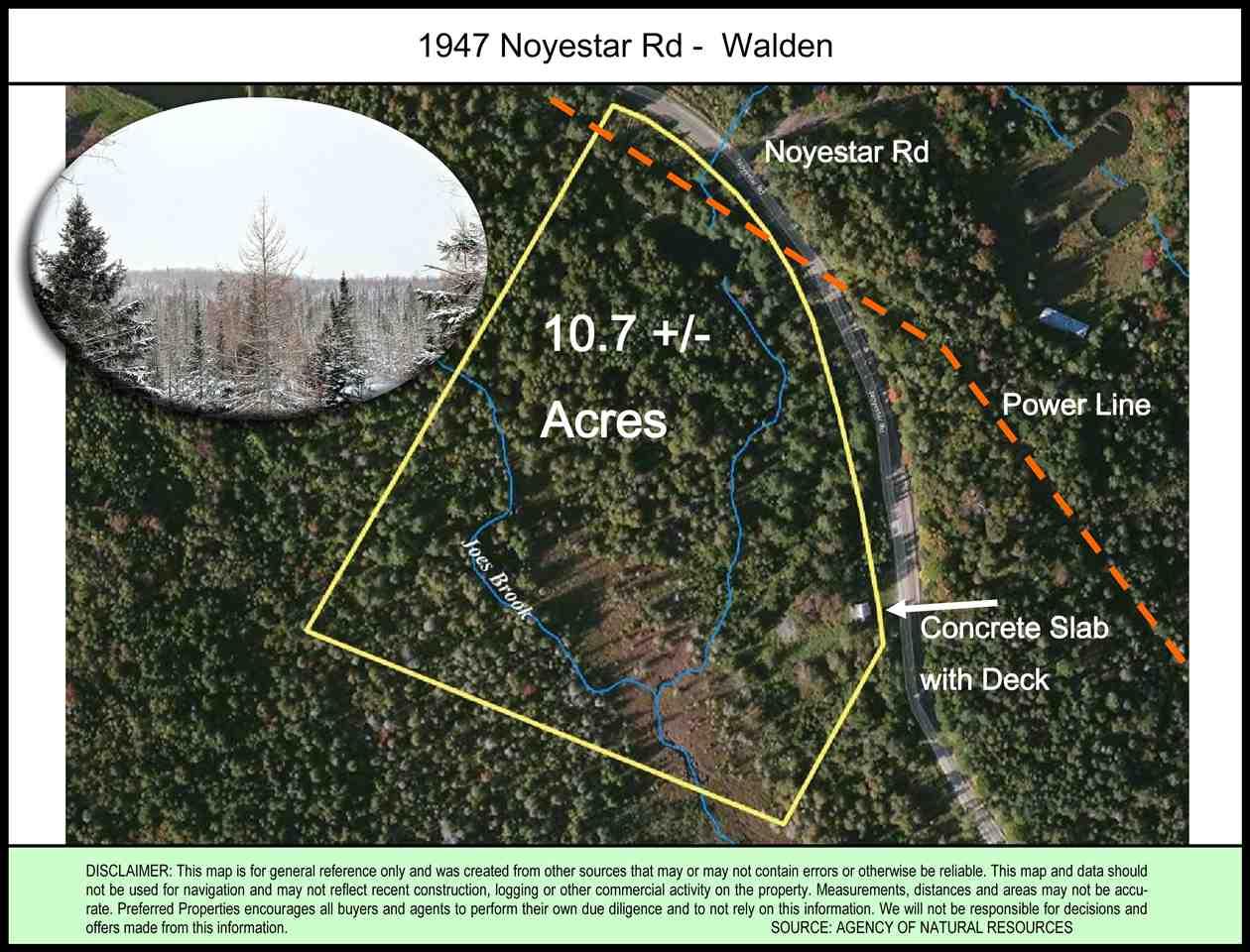 WALDEN VTLAND  for sale $$25,000 | 10.7 Acres  | Price Per Acre $0