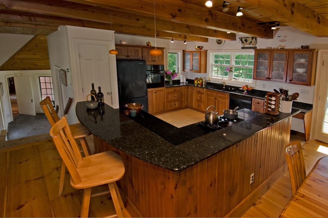 Kitchen and Expansive Island
