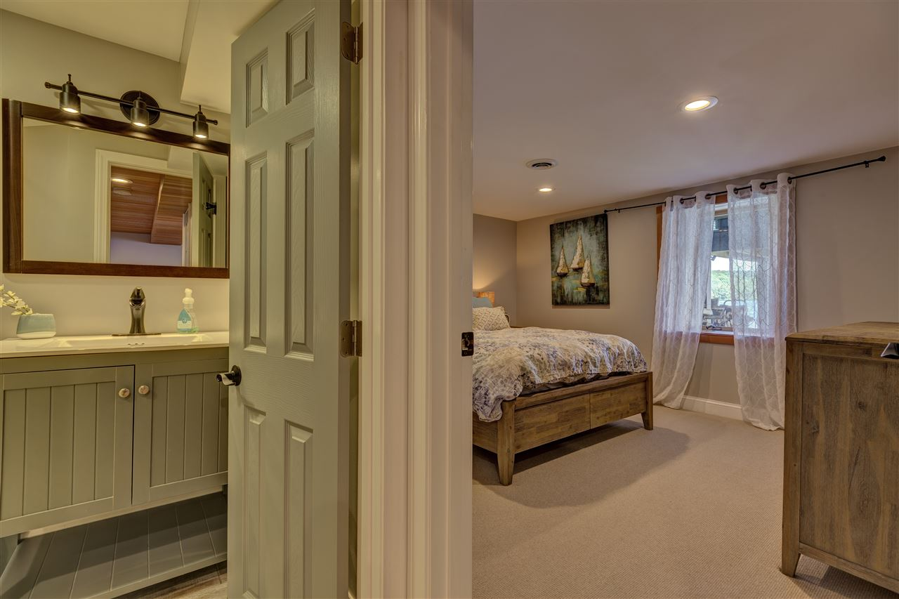 Lower level bedroom with water views