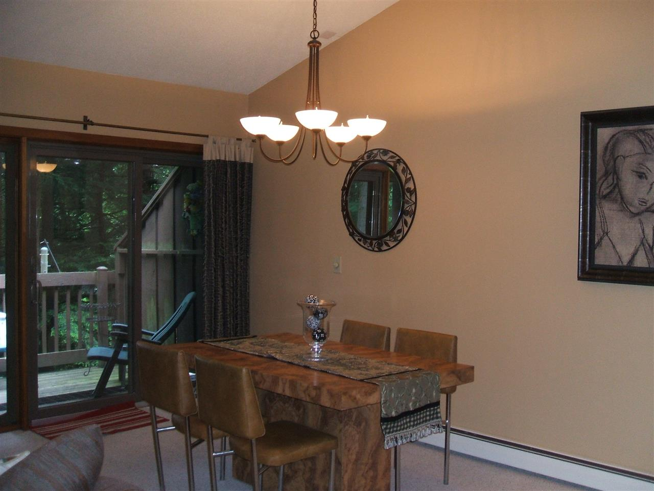 Dining Area Leads out to Deck