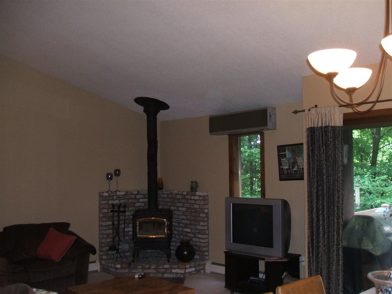 Woodstove and Wall A/C