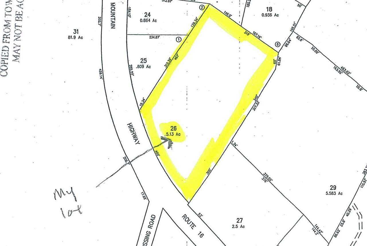 OSSIPEE NH LAND  for sale $119,000