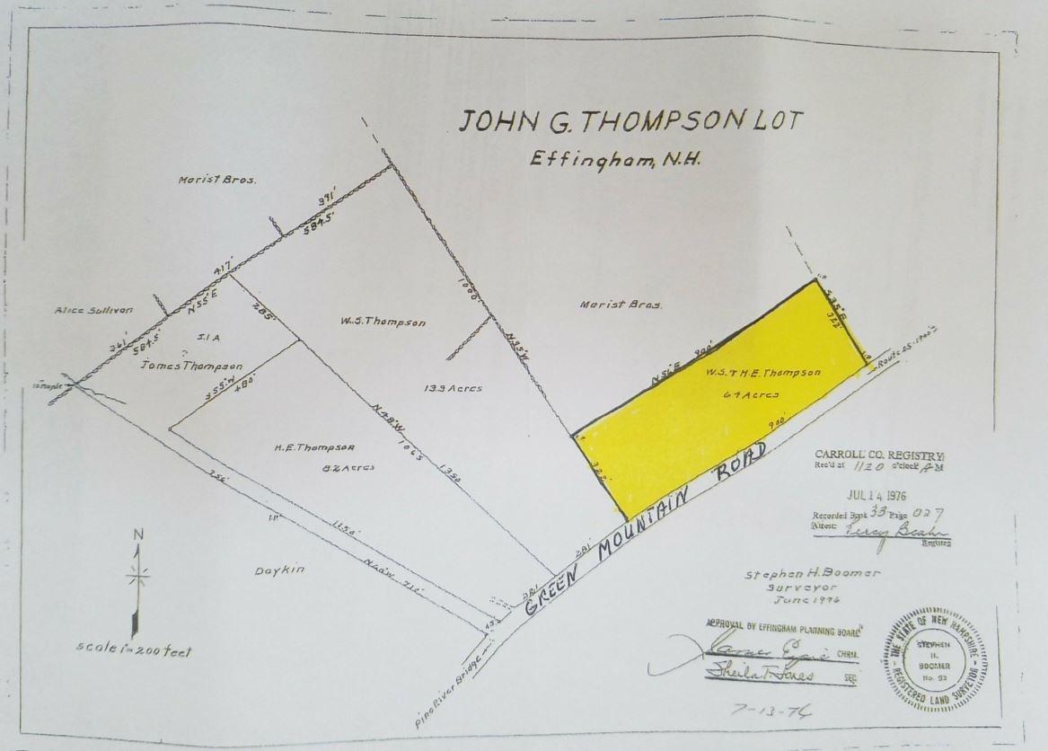 EFFINGHAM NH LAND  for sale $49,000
