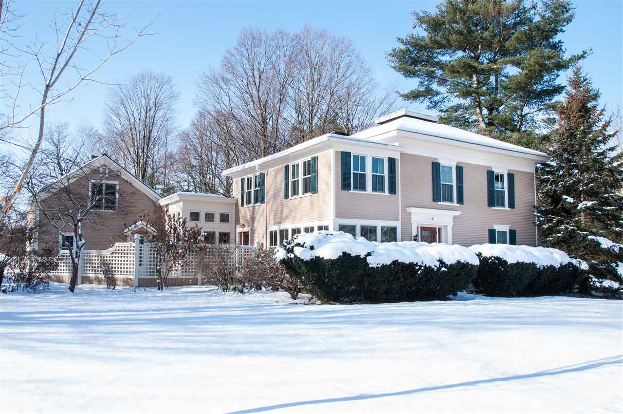One of the most beautiful properties and locations in the area! Located just on the edge of Bristol Village; convenient to shopping, restaurants and the town green. Sited on a large, 1.48 acre lot, with perennials and gardens, this gives you a park like setting for your residence! This historic foursquare home has been lovingly maintained over the years, and is currently zoned and used as a two family dwelling. Full of architectural details, but updated for today! Pull into the circular driveway, and the freshly painted exterior will invite you in. The main portion of the home has a spacious eat in kitchen, wood floors, large dining/living area with a wood stove, and family room. The enclosed porch is a favorite spot to sit and relax year round as it is heated space! Upstairs is a master bedroom with updated bath, office, and two additional bedrooms and bath. The back portion of the home houses a separate unit that features it's own kitchen, 1 1/2 baths, bedroom, living room and den (w/Murphy bed). The set up is perfect for two families, whether they are multi generations or for use as a rental unit to help cover the costs of the home! A new owner could also use the second unit for a guest space or a home office, or perhaps a B&B! Truly an historic gem, ready for you to be the next owner!