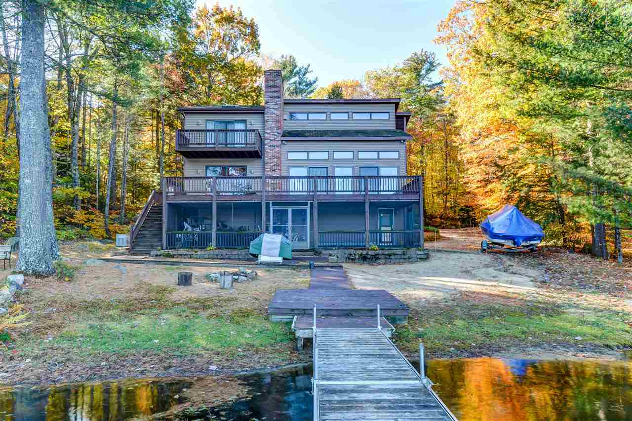 Laconia NH Home mls no. 4666214 with 100 ft. owned waterfront