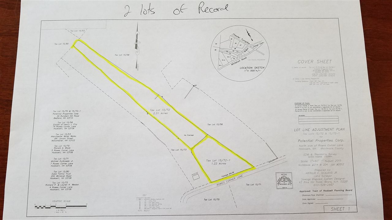 Hooksett NH Land  for sale $List Price is $89,400