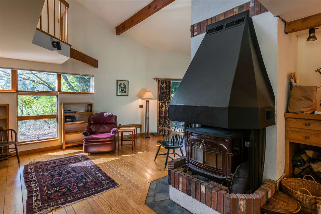 Living room with woodstove 11310804