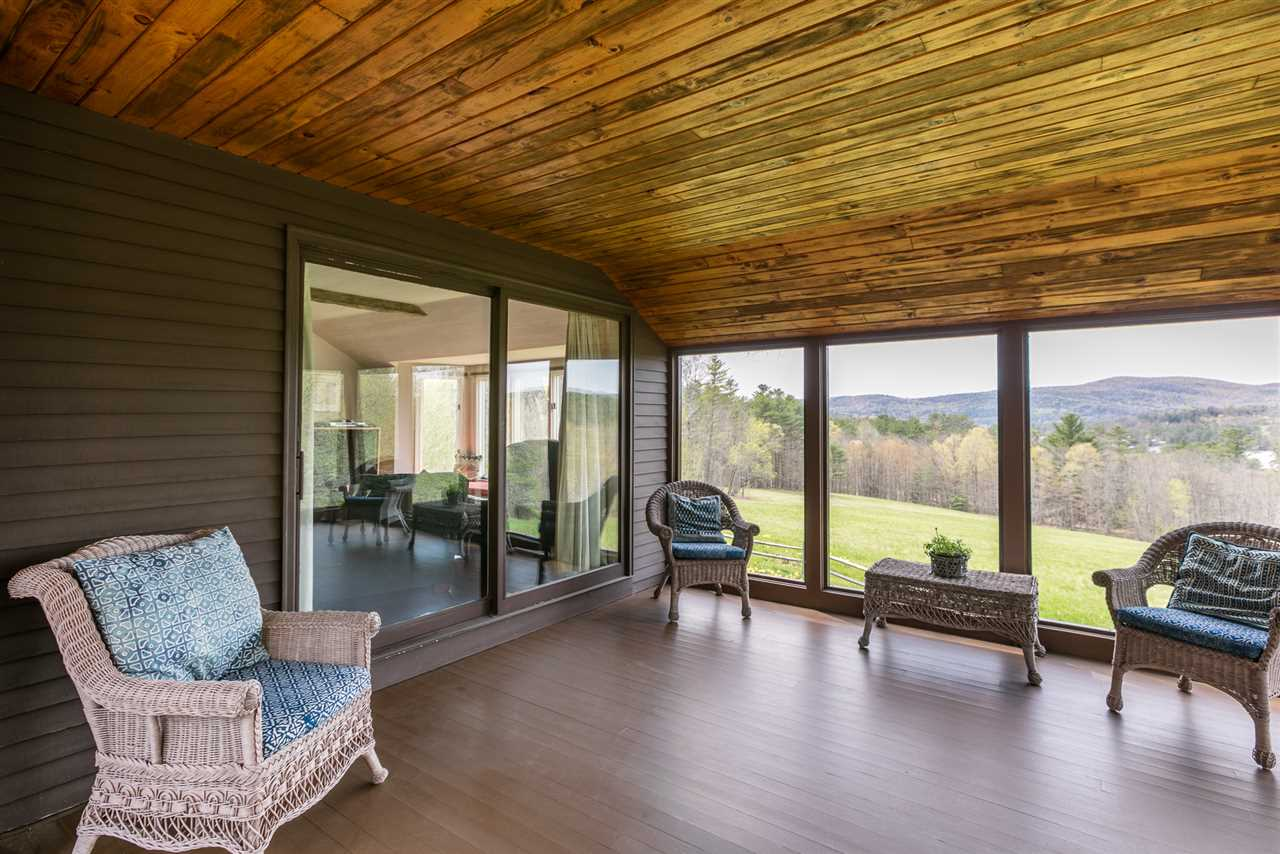 Screened porch with a  view - sunsets!