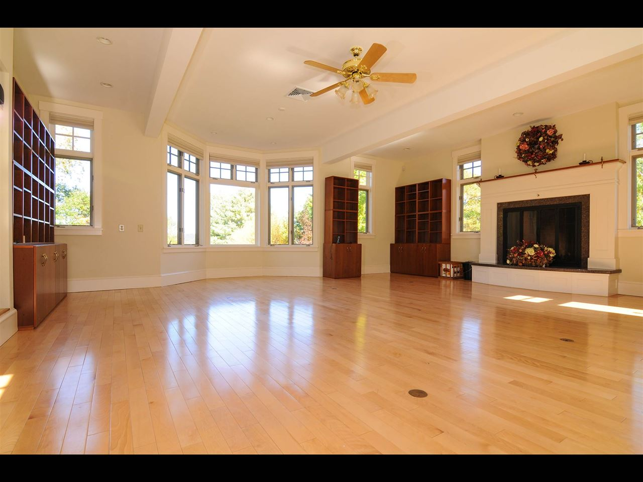 Great room with lots of glass and fireplace 11319834