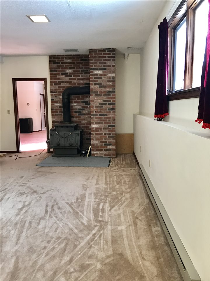 Basement Family Room w/ Woodstove