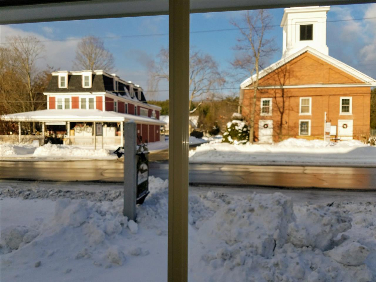 view out of Great Room windows, quintescential New England 11339084