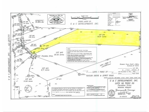 WINDSOR VT LAND  for sale $$96,000 | 19.01 Acres  | Price Per Acre $0