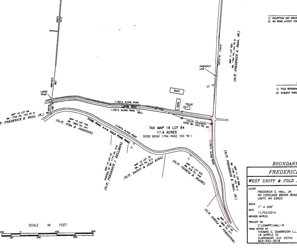 UNITY NH LAND  for sale $$49,900 | 11.4 Acres  | Price Per Acre $0