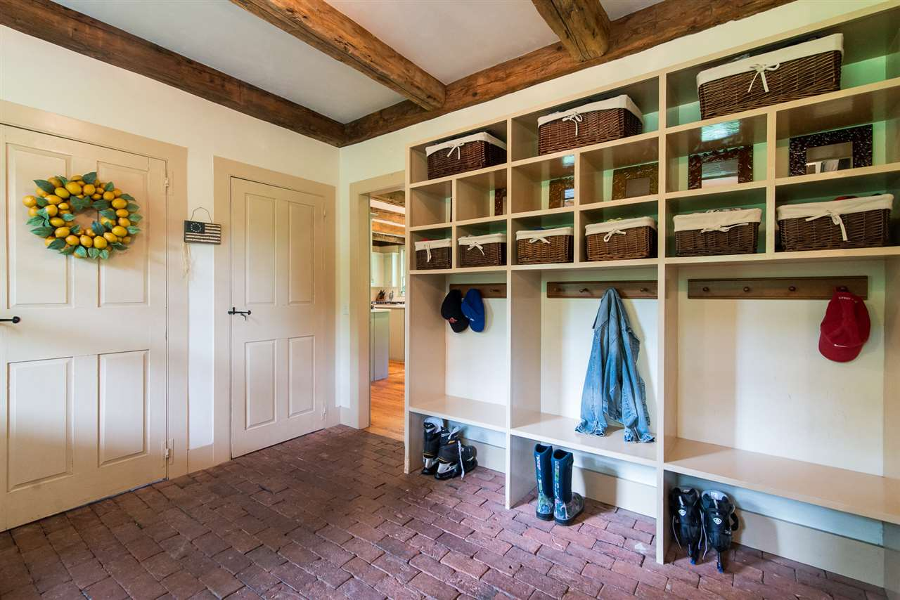 Mudroom with radiant heat