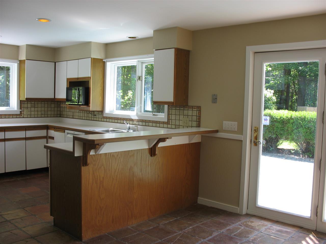 Newly painted kitchen