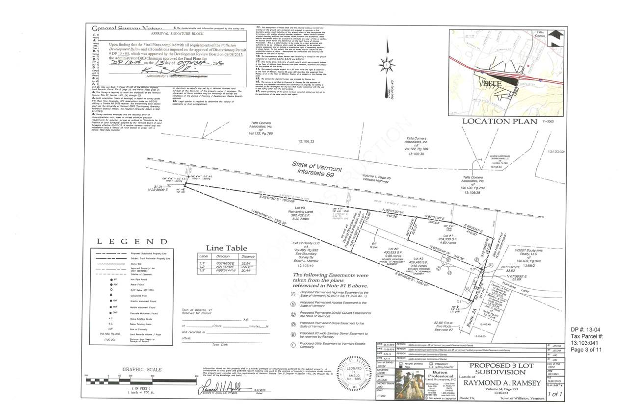 Shared access with new VTrans to-be built Park & Ride. State of Vermont constructed and maintained right-of-way. Town water and sewer. Great visibility and road access.  Potential Uses: - Excellent location for convenience store with gas pumps and hotel