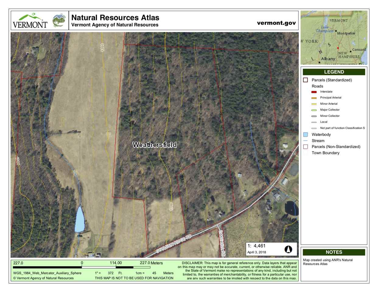 WEATHERSFIELD VT LAND  for sale $$125,000 | 35.4 Acres  | Price Per Acre $0