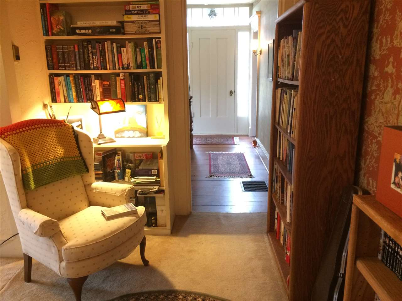 reading nook to hall