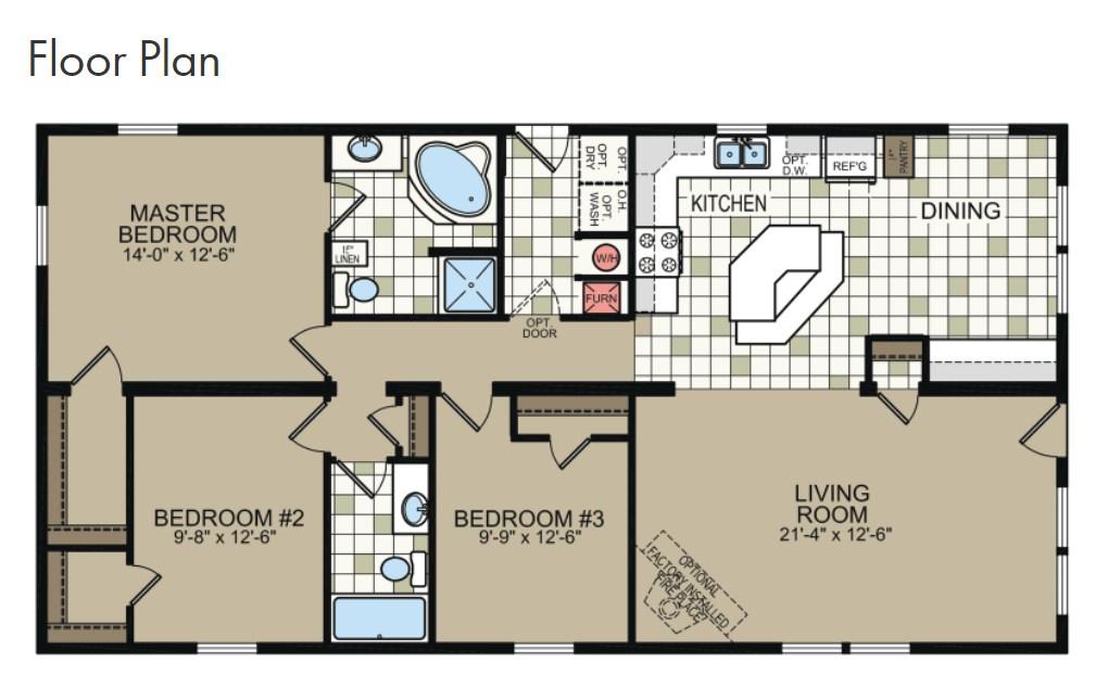 Floor plan 26x52 11808616
