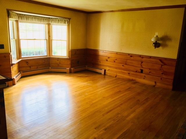 Family Room w/\knotty pine Wainscot