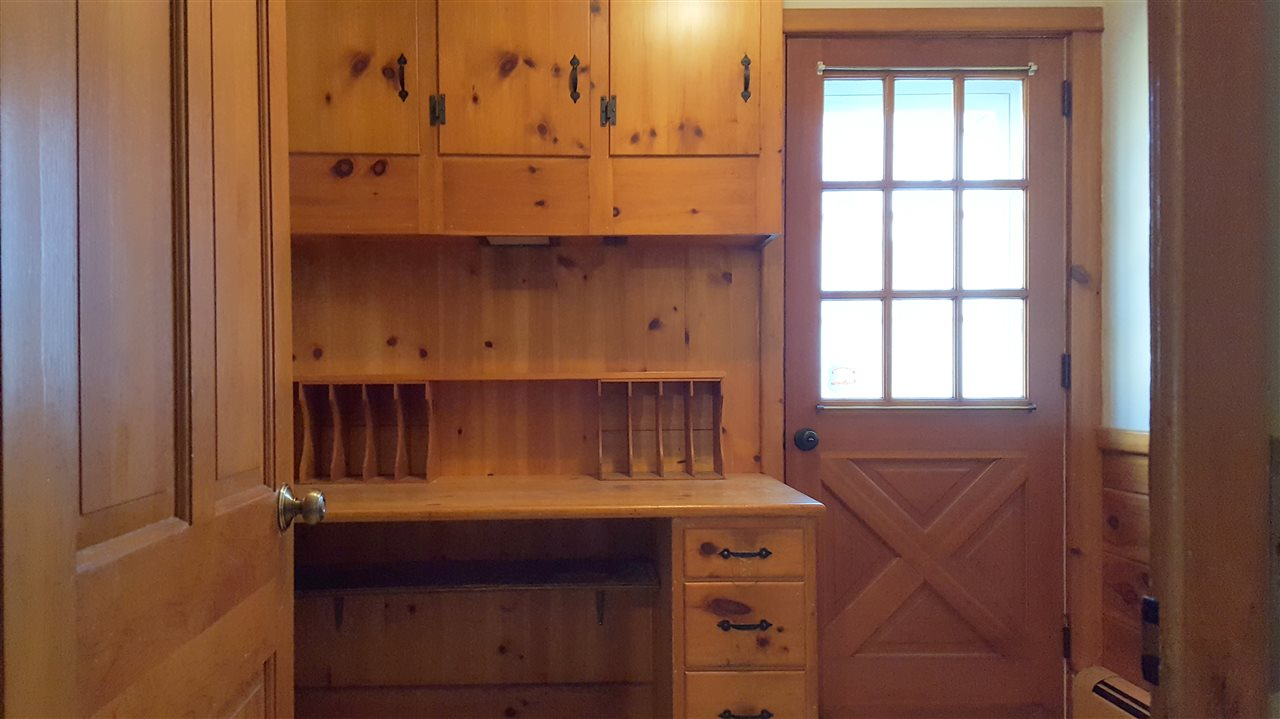 Mudroom with two entryways